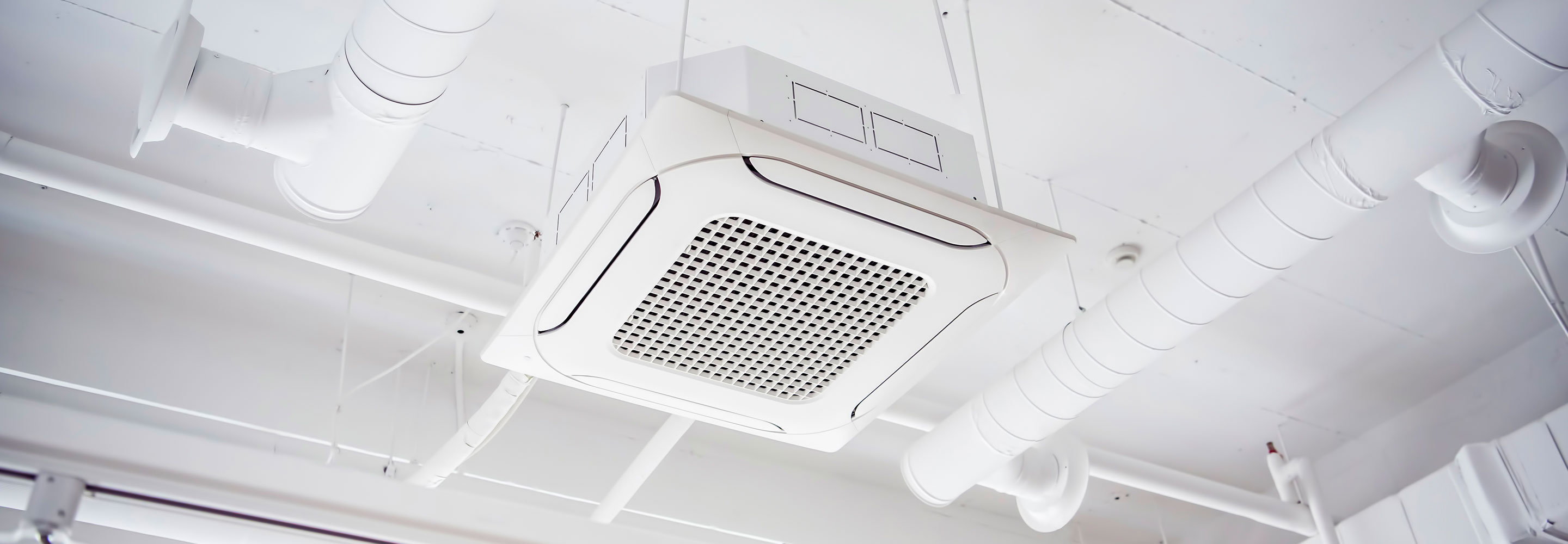 HVAC vent in the ceiling of an office