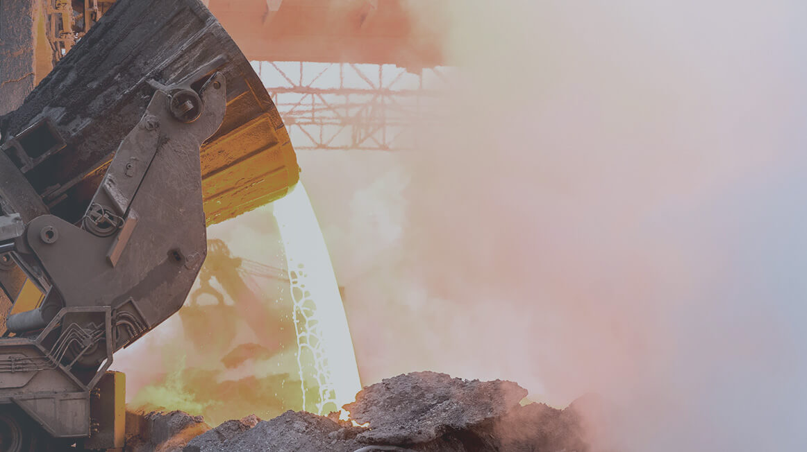 molten rock pouring ArcelorMittal