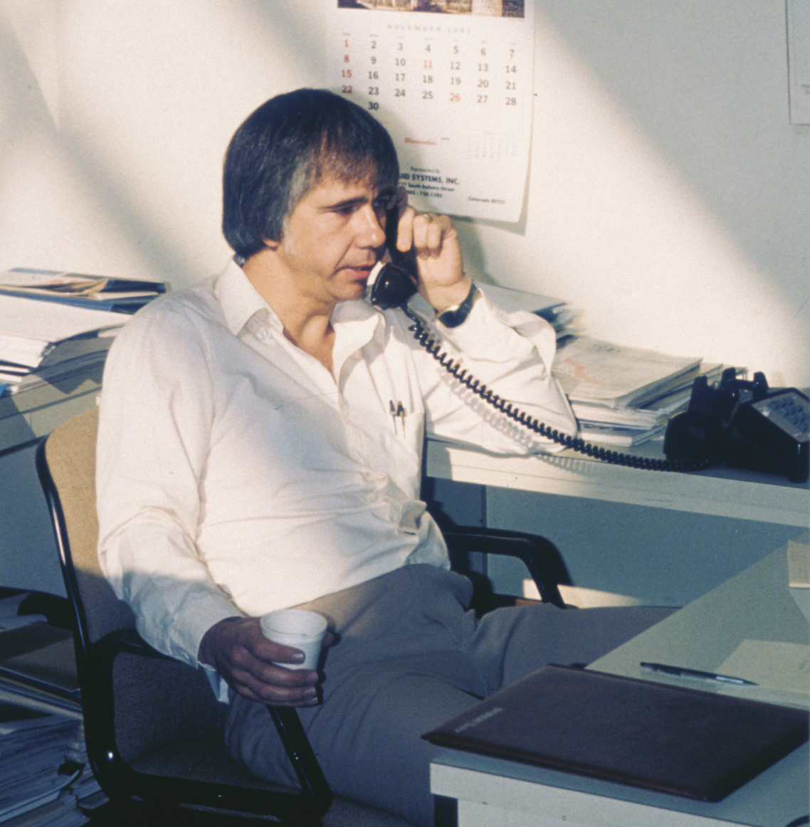 """Dr. Kennedy in 1983. His vision of an """"industrial desktop"""" grew into the market-leading data management platform for industrial operations."""