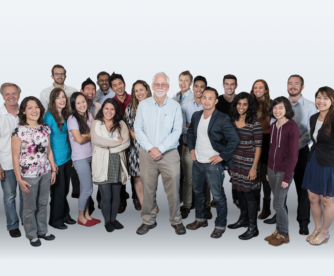 Pat Kennedy with a group of OSIsoft employees