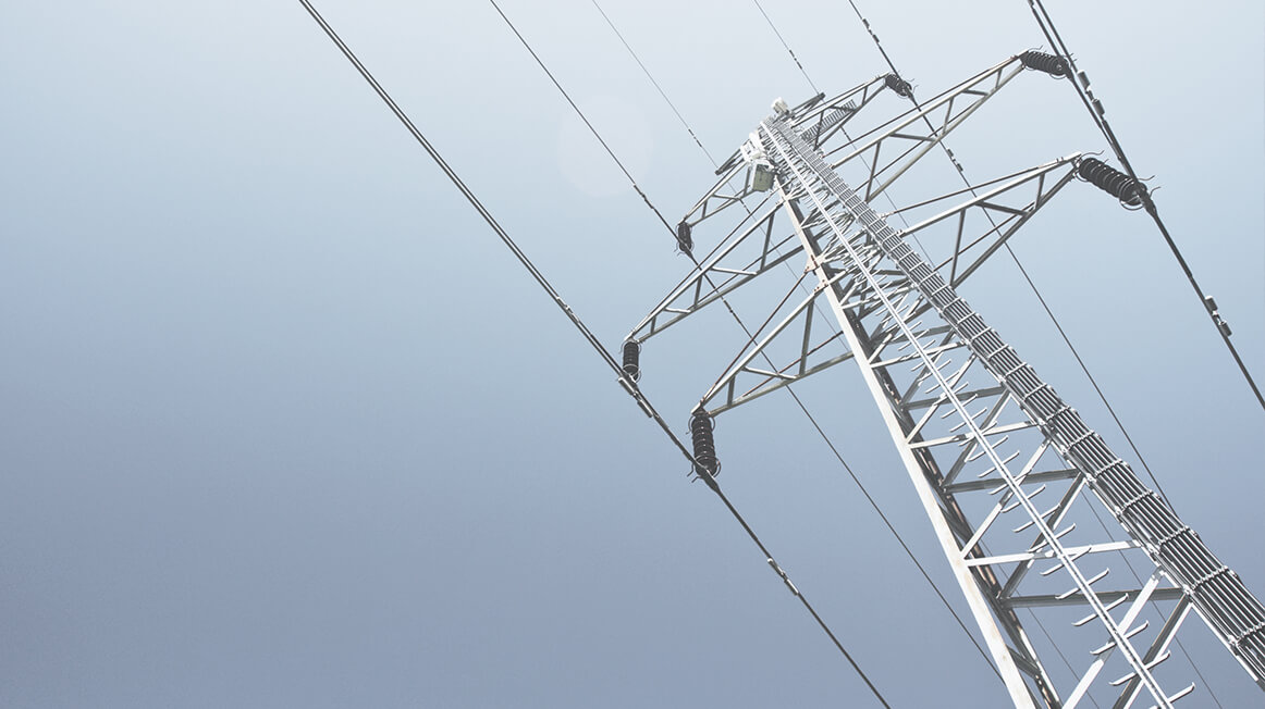 Power line and tower